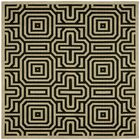 Jefferson Place Sand & Black Outdoor Area Rug Rug Size: Square 6'7