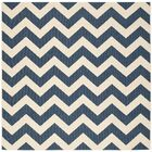 Jefferson Place Navy/Beige Indoor/Outdoor Area Rug Rug Size: Square 7'10