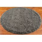 Starr Hill Charcoal Area Rug Rug Size: Round 4'