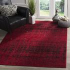 Connie Red/Black Area Rug Rug Size: Rectangle 4' x 6'