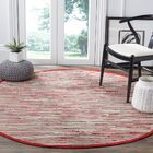 Shatzer Hand-Woven Red Area Rug Rug Size: Rectangle 5' x 8'