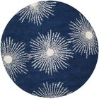 Chidi Dark Blue & Ivory Area Rug Rug Size: Rectangle 6' x 9'