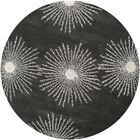 Chidi Charcoal / Ivory Rug Rug Size: Round 6'
