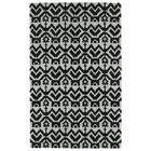 Hinton Charterhouse Hand-Tufted Black Area Rug Rug Size: Rectangle 3'6