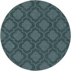 Castro Hand Woven Wool Teal Area Rug Rug Size: Round 9'9