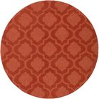 Castro Hand Woven Wool Orange Area Rug Rug Size: Round 9'9