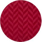 Sunburst Hand Woven Wool Red Area Rug Rug Size: Round 9'9
