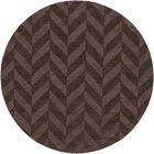 Sunburst Hand Woven Wool Brown Area Rug Rug Size: Round 9'9