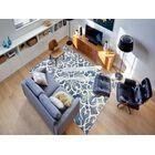 Eltingville Blue/White Area Rug Rug Size: Rectangle 8' x 11'