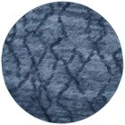 Tenth Avenue Dark Blue Area Rug Rug Size: Round 6'
