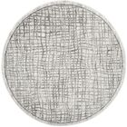 Connie Silver/Ivory Area Rug Rug Size: Round 6'