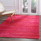 Shatzer Hand-Woven Red Area Rug Rug Size: Rectangle 6' x 9'