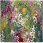 Sharber Green/Pink Area Rug Rug Size: Square 6'7