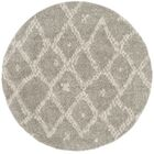Amicus Gray/Beige Area Rug Rug Size: Round 6'7''