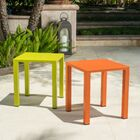 Fennia Outdoor Aluminum End Table Color: Orange and Lime Green