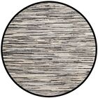 Shatzer Hand-Woven Black Area Rug Rug Size: Round 6'