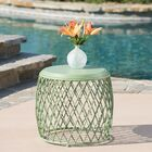 Quiles Metal Side Table Color: Matte Green