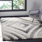 Adamski Cream/Gray Area Rug Rug Size: Square 6'7