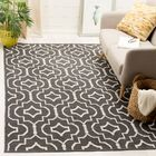Rennie Hand-Woven Dark Gray/Ivory Area Rug Rug Size: Rectangle 5' x 8'