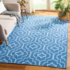 Rennie Hand-Woven Blue/Ivory Area Rug Rug Size: Rectangle 5' x 8'