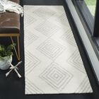 Pizano Hand-Woven Wool Ivory/Silver Area Rug Rug Size: Runner 2'3