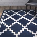 Wilkin Wool Navy/Ivory Area Rug Rug Size: Rectangle 4' x 6'