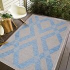 Stenberg Light Gray/Blue Indoor/Outdoor Area Rug Rug Size: Rectangle 6'7 x 9'