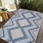 Stenberg Light Gray/Blue Indoor/Outdoor Area Rug Rug Size: Rectangle 6'7 x 9'