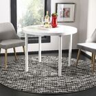 Sevastopol Light Gray/Charcoal Area Rug Rug Size: Round 6'7