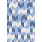 Conroy Hand-Tufted Blue Area Rug Rug Size: Rectangle 5' x 8'