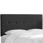 Monteiro Twill Upholstered Panel Headboard Size: Full, Upholstery: Black