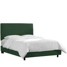 Upholstered Panel Bed Color: Conifer Green, Size: Twin