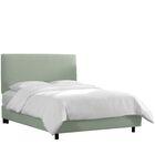 Upholstered Panel Bed Color: Swedish Blue, Size: King