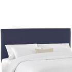 Duck Slipcover Upholstered Panel Headboard Color: Navy, Size: Twin