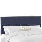 Duck Slipcover Upholstered Panel Headboard Color: Navy, Size: Full