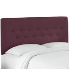 Whiteway Button Tufted Panel Headboard Size: Twin, Upholstery: Duck Black