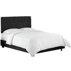 Whiteway Upholstered Panel Bed Size: Full, Color: Duck Black