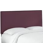 Whiteway Nail Button Border Upholstered Panel Headboard Size: King, Upholstery: Duck Leaf