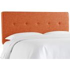 Cambra Tufted Upholstered Panel Headboard Size: Twin, Upholstery: Zuma Navy
