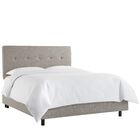 Gowen Upholstered Panel Bed Size: Twin, Color: Zuma Atomic