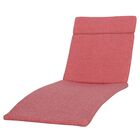 Cara Indoor/Outdoor Chaise Lounge Cushion (Set of 2) Color: Red