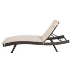 Ferrara Reclining Chaise Lounge with Cushion Color: Textured Beige