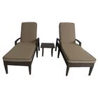Luciano 3 Piece Chaise Lounge Set with Cushions Color: Light Brown