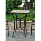 Katzer Wicker Resin/Aluminum Patio Table Finish: Black Antique