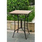Katzer Wicker Resin/Aluminum Patio Table Finish: Antique Brown