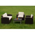 Loggins 4 Piece Loveseat Set with Cushions