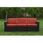 Loggins Patio Sofa with Cushions Fabric: Orange