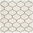 Marco Ivory/Gray Area Rug Rug Size: Square 8'