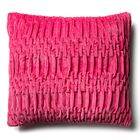 Longwood Track Cotton Velvet Throw Pillow Color: Pink, Size: 19.7