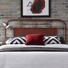 Lamont Open-Frame Headboard Color: Red, Size: Twin